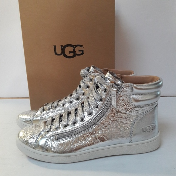 8cf938089e1 New Women's UGG metallic Sneakers Size 10 NWT